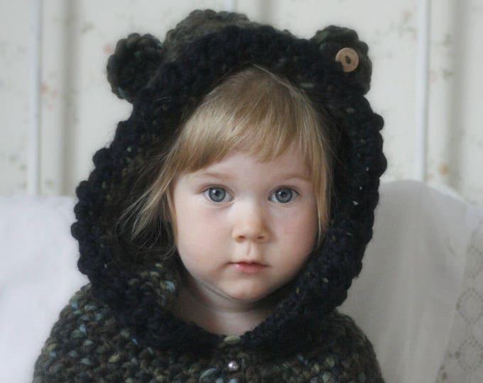 CROCHET PATTERN hooded cowl Phenix (toddler/child/adult sizes)