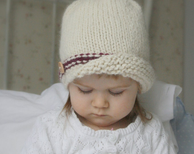KNITTING PATTERN cloche Clohe (baby, toddler, child sizes)