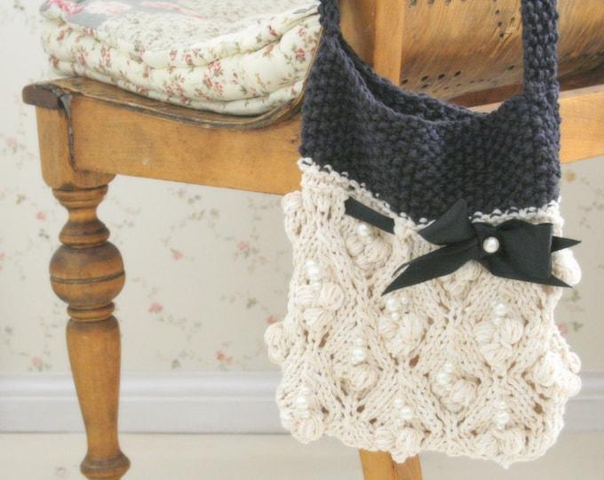KNITTING PATTERN shoulder lace bag Musti