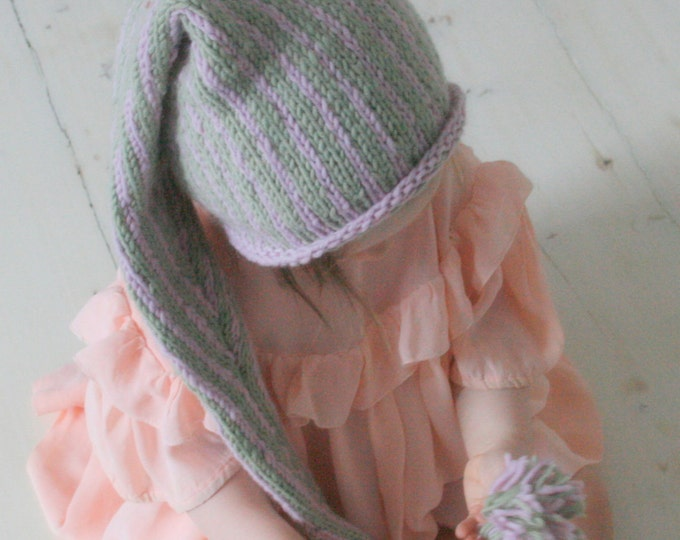 KNITTING PATTERN stocking hat Tontu (baby, toddler, child sizes)