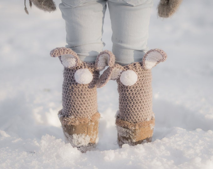 CROCHET PATTERN easy bunny leg warmers Coco (baby/toddler/child/adult sizes)