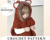 CROCHET PATTERN fox hooded chunky poncho Max x Kids poncho pattern x Free pattern gift x Bulky poncho x Hooded vest x Beginners pattern