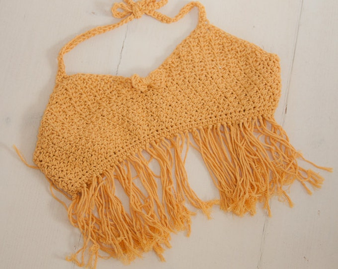 CROCHET PATTERN summer beach crop top bikini Lily  (toddler and kids sizes)