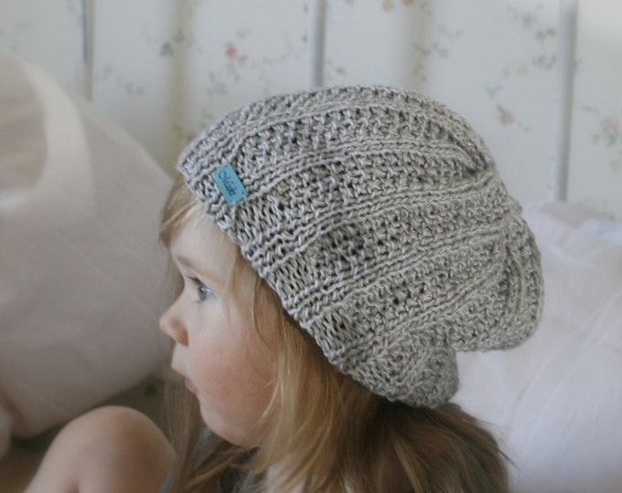 KNITTING PATTERN for slouchy hat Olle kids and adult sizes