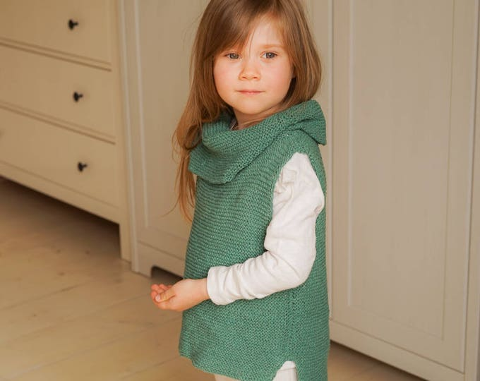 KNITTING PATTERN basic sleeveless turtleneck jumper vest Margaux (toddler, child sizes)