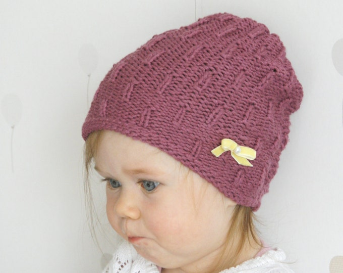 KNITTING PATTERN basic hat Hadda (baby, toddler, child, woman sizes)