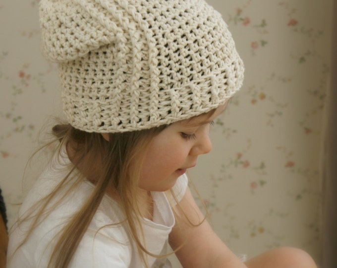 CROCHET PATTERN slouchy hat Jess (baby/toddler/child/teen/woman/man sizes)