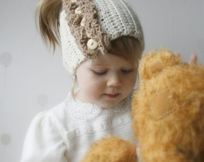 CROCHET PATTERN ruffle headband Hanna newborn, toddler, child, adult sizes