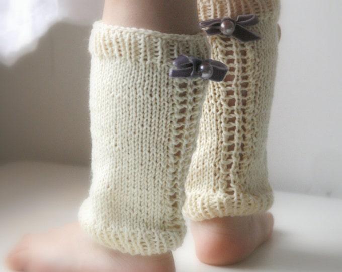 KNITTING  PATTERN basic lace leg warmers Pauline (newborn to child sizes)
