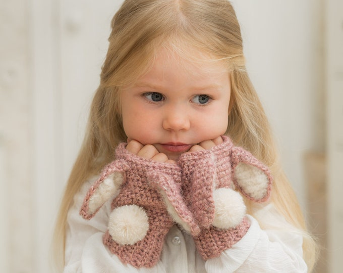 CROCHET PATTERN bunny Lola wrist warmers (toddler, child, adult sizes)
