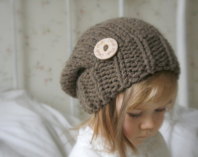 KNITTING PATTERN basic chunky slouchy hat Aine (baby to adult sizes)