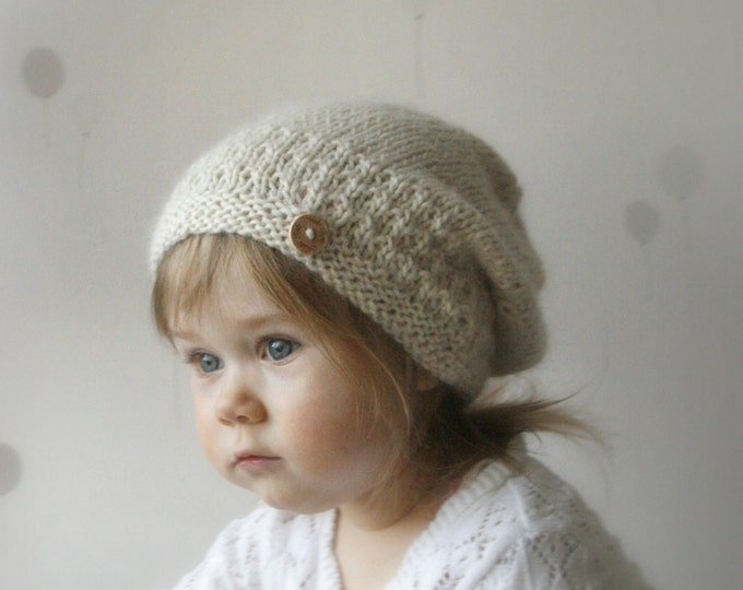 KNITTING PATTERN slouchy hat Carol (toddler, child, woman sizes)