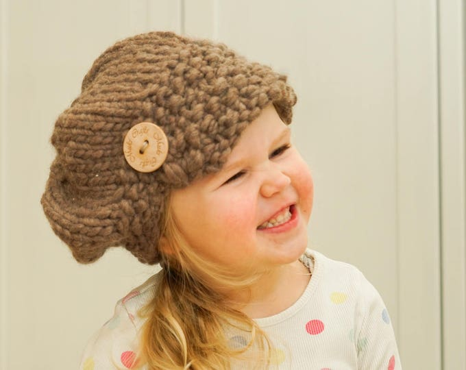 KNITTING PATTERN newsboy cap hat Morgan (toddler, child, woman, man sizes)