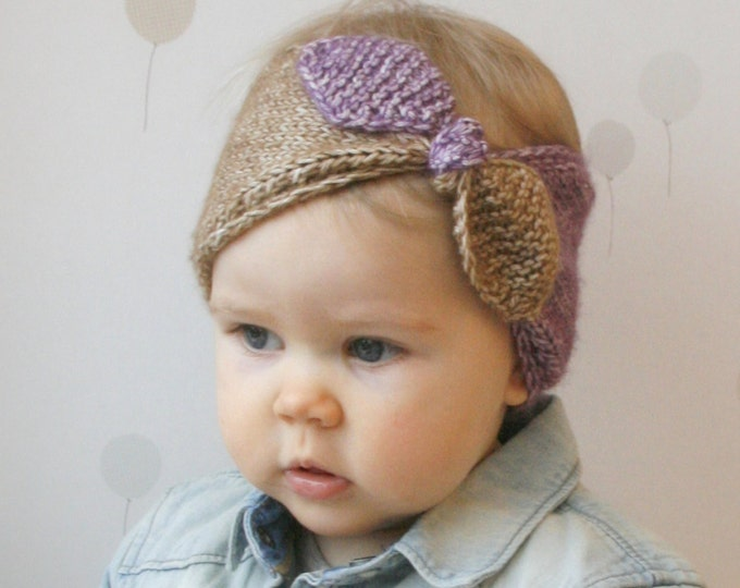 KNITTING PATTERN turban bow headband headwrap Rita (newborn/6m/1y/3y/child/adult woman sizes)