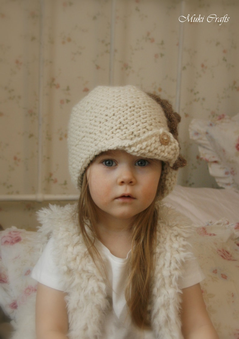 KNITTING PATTERN Downton Abbey cloche Andra | Etsy