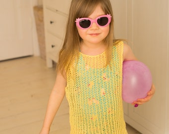 KNITTING PATTERN mesh dress Faith (toddler, child sizes)