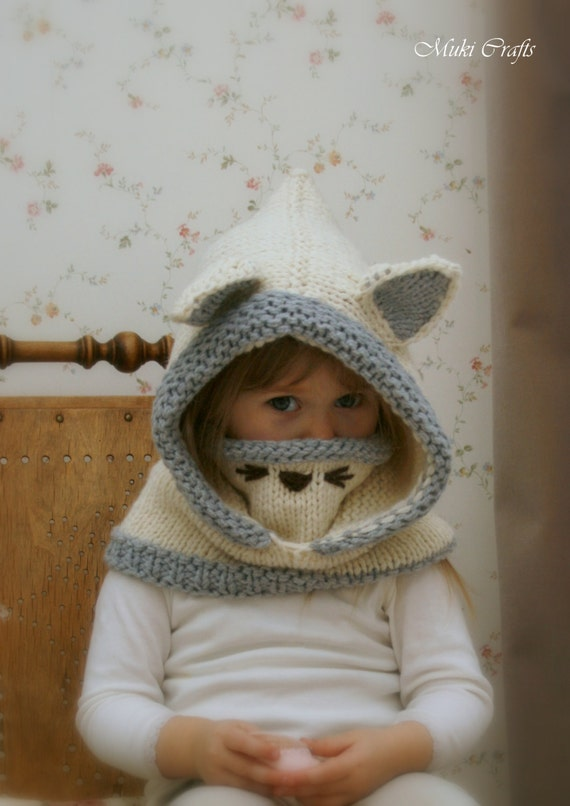 Knitting Pattern Snood Arctic Fox Rene Baby Toddler Child Etsy