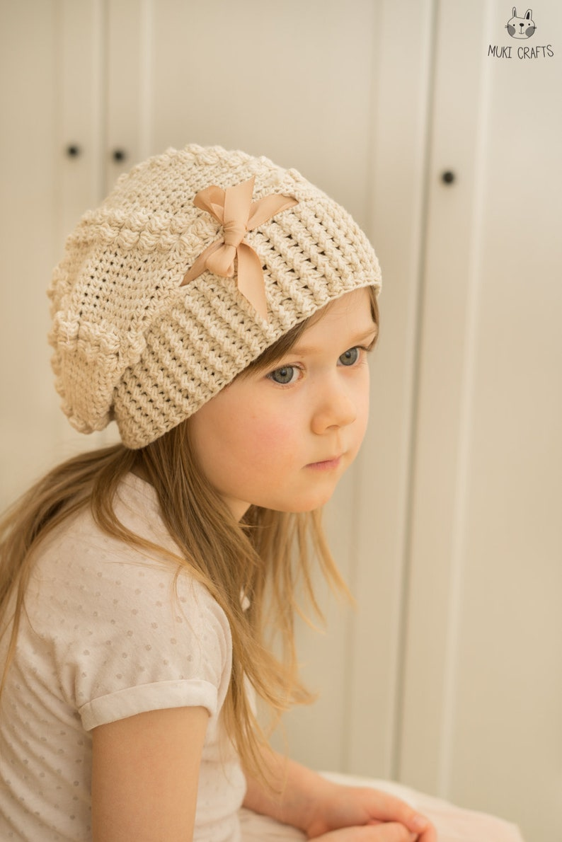 8bbb2d6f90f CROCHET PATTERN slouch hat Regina with puff stitches and
