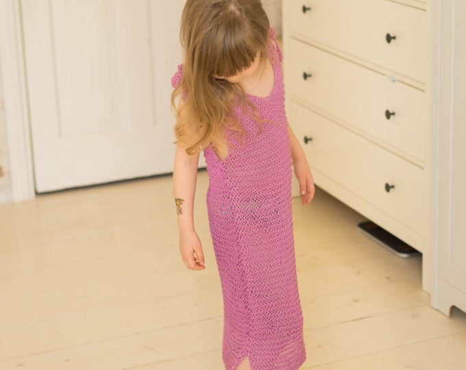KNITTING PATTERN simple summer dress Ari (kids and adult sizes)
