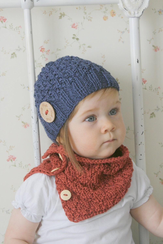 68d88b9e836 KNITTING PATTERN beanie hat and cowl set Eti (baby