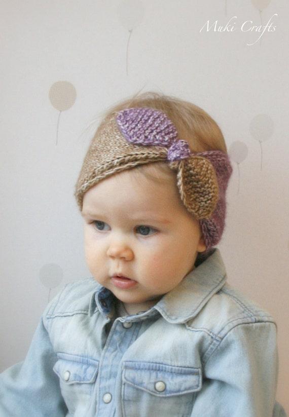 KNITTING PATTERN turban bow headband headwrap Rita  6fb8b0c8061