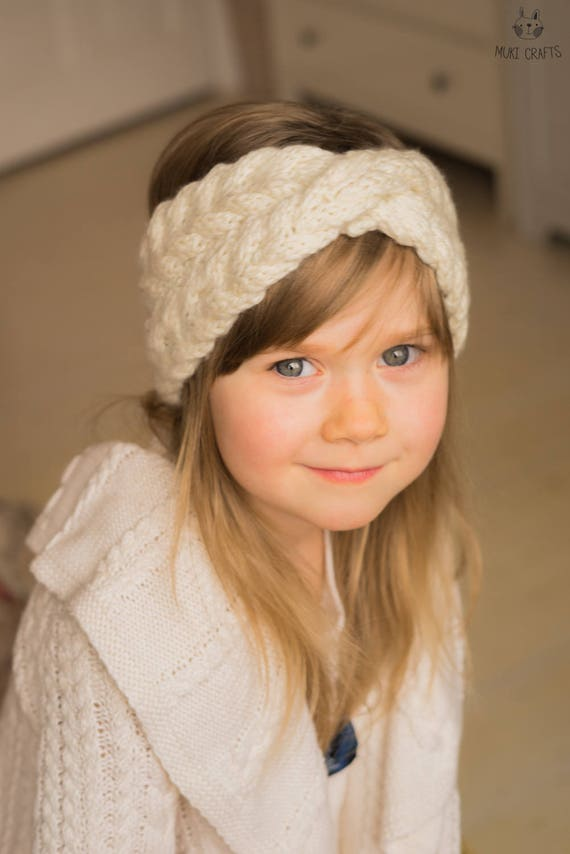 Knitting Pattern Cable Headband With A Twist Iverson Kids And Etsy