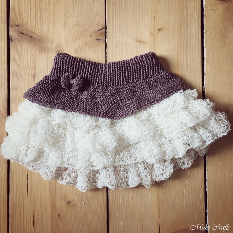 KNITTING PATTERN tutu ruffle mini skirt Anniki x Girls ...