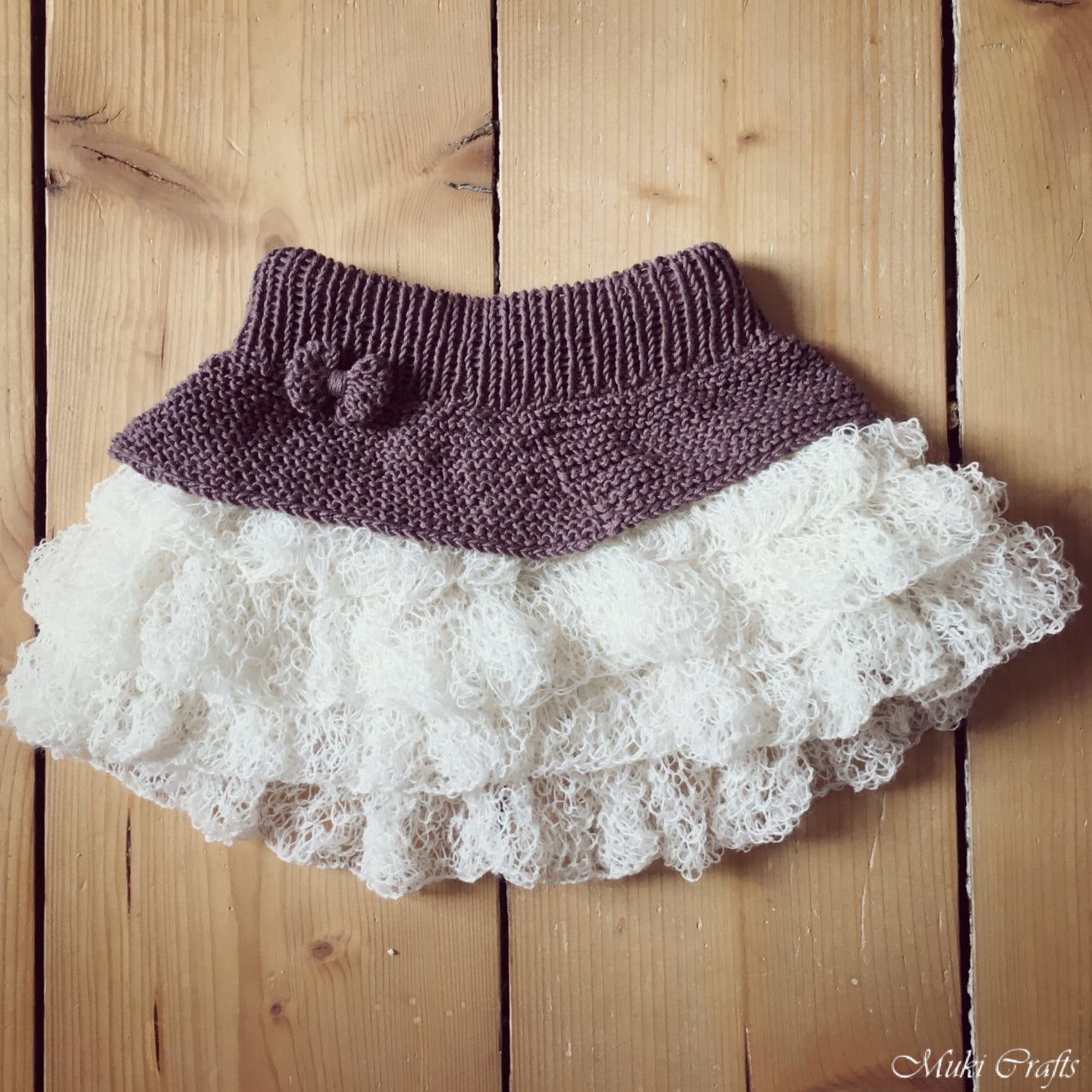Knitting Pattern Tutu Ruffle Mini Skirt Anniki Toddler Child Etsy