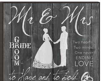 Mr. and Mrs. Wedding plaque