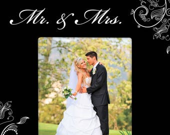 Mr. and Mrs. Wedding Frame Personalized