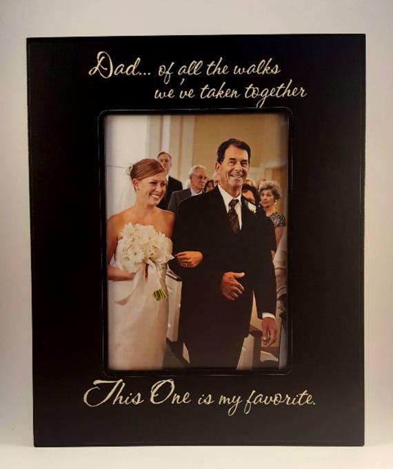 Wedding Father Daughter Personalized Frame 5x7 Etsy