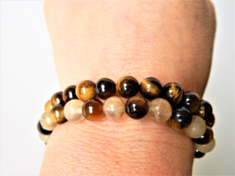 Positive Mind bracelet Positive Thought natural AAA class tiger eye stones