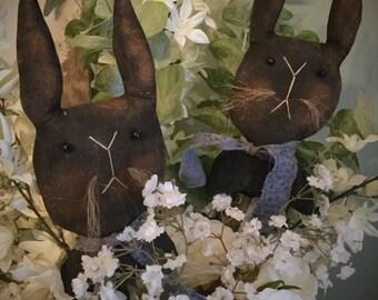 Primitive Easter Spring bunny rabbit poke