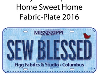 SEWBLESSED Row by Row Experience Home Sweet Home License Fabric-Plate 2016