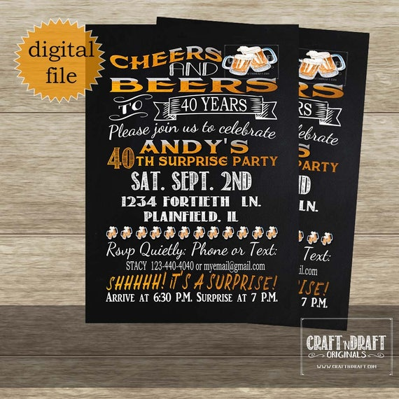 Cheers And Beers Invite Beer Invitation Birthday