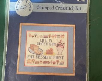 Stamped Crosstitch Kit No 552 Eat Dessert First