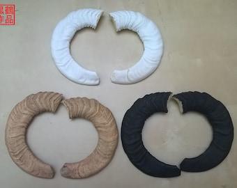 Flat Sheep Replica Horns