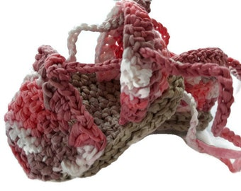 Crochet Baby Girl Shoes, Crochet Baby Girl Espadrille Sandals, Pink Baby Shoes New Born 0 to 3 Months Ready Made