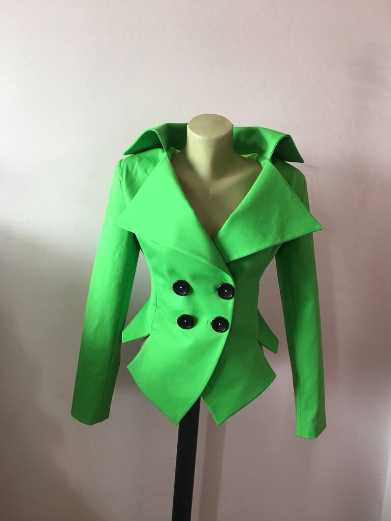 hot sale online 4fcfa 907ac Grüne Jacke Damen ausgestattet Frühling Blazer zugeschnitten Blazer,  Steampunk schwarz Jacke, Goth-Blazer, schwarz Partei Jacke