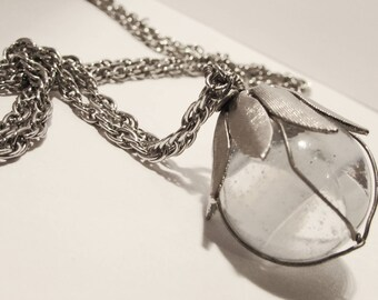 Wrapped Marble Lantern Necklace