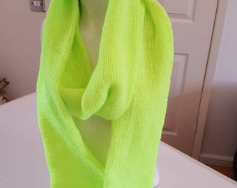 Lime green double thickness scarf winter warmer gift for her lime green scarf scarf lime green