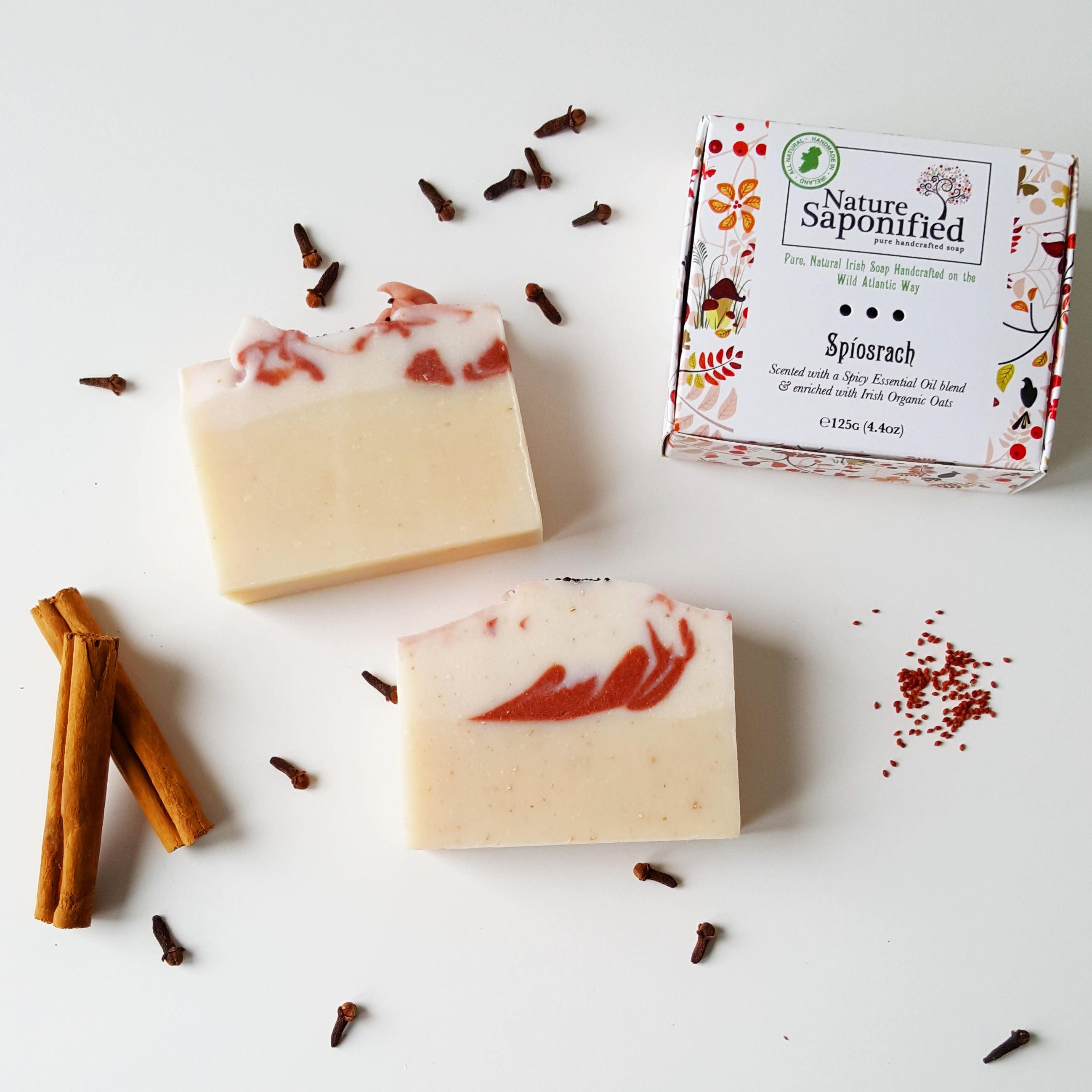 spiosrach luxury cinnamon  u0026 clove irish soap spicy soap