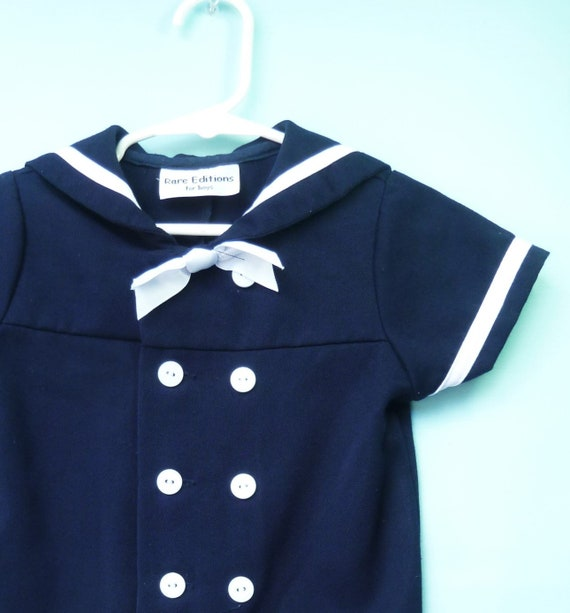 b66ec6275 Vintage Style Navy Baby Boy s Double Breasted Nautical