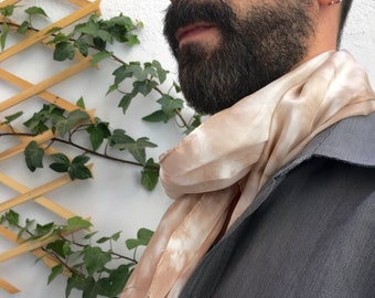 Birthday gift, Scarf for women, Scarf for man, Scarf dyed with blackberry bush, for him, for her