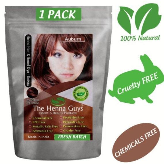 Auburn Henna Hair Dye Pulver 100g (3,53 Oz) - 100 % natürliches Produkt