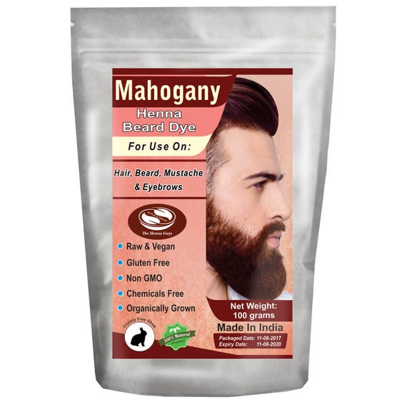Henna Beard Dye for Men 100 percent Natural & Chemical Free | Etsy