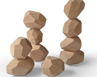 Wooden Balancing Rocks I Stacking Stones I  Balancing Toy I Wooden Toy I Minimal Toy I Rocks Blocks I Wooden Rocks Set