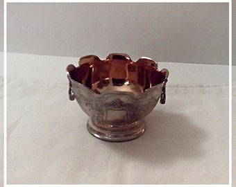 Vintage Silverplate Bowl, Candy Dish, French Farmhouse, Christmas Candy Bowl