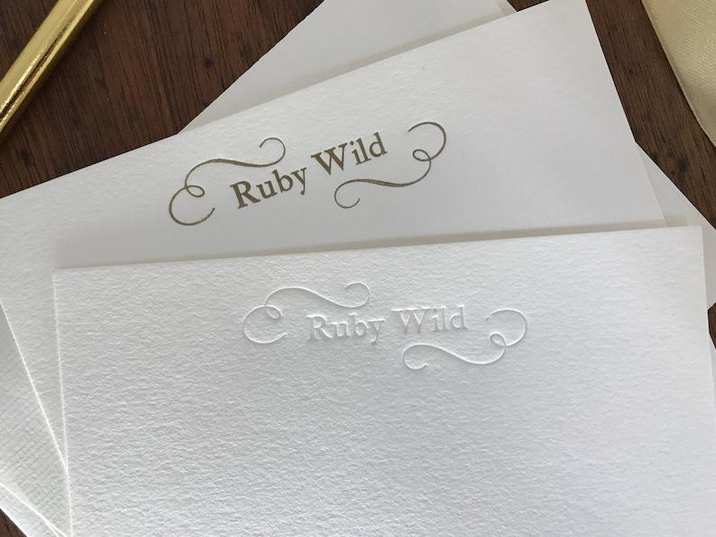 Personalised letterpress stationery handprinted image 0