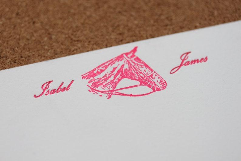 Custom horse cards  bespoke stationery set with beautiful image 0